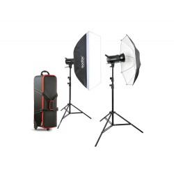 GODOX SK400 2 HEADS STUDIO KIT (SK400-KIT) + 2 Light Stand