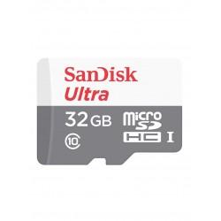 بطاقة ذاكرة سانديسك الترا مايكرو اس دي اتش سي يو اتش اس-1 بسرعة 80 ميجا في الثانية مع محول بسعة 32 جيجا (SDSQUNS-032G-GN3MA)