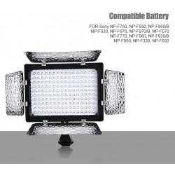 W160 Led Video Light,Video Photography Light Lamp Panel 6000K LED for DSLR Camera DV Camcorder