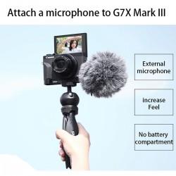 UURig R016 ميكروفون قوس L لوحة لكانون G7X مارك الثالث كاميرا الألومنيوم قوس الخارجية مع الحذاء البارد جبل ل مصباح ليد