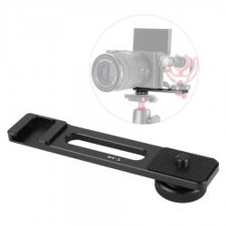 Ulanzi PT-5 Vlog Mic حامل محول ترايبود قوس حامل لسوني A6400 A6500 A6300 لكانون G7X II نيكون DSLR كاميرا Accessorio