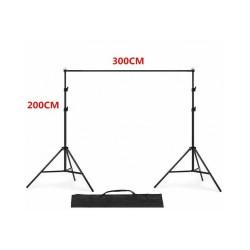 Backdrop Background Stand Set Photography Studio Photo 2x3m